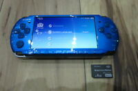 Sony PSP 3000 Console Vibrant Blue w/4GB Memory Card Japan K751