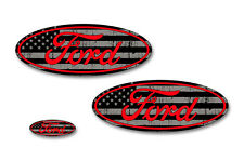 Front,Rear,Steering Wheel Decal Sticker Oval Emblem for Ford F150 2015-2017 RDLN