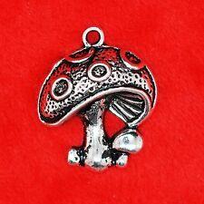 6 x tibetan silver champignon charme pendentif trouver Perles Fabrication de Bijoux