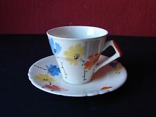 Myott Son & Co. Hand Painted Cup and Saucer 1076