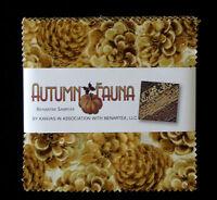 "(40) 5"" Fabric Squares - Benartex AUTUMN FAUNA Fall Harvest Assortment"