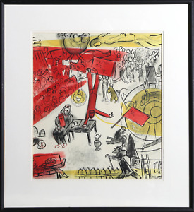 Marc Chagall, Revolution, Lithograph, signed in the plate