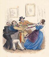 Proverbe Il n'est plus Fort Lien que la Femme Relation Amoureuse Granville 1870