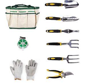Kariyer Garden Tools Set Aluminum Heavy Duty 9 Piece Kit Outdoor Gardening Gift