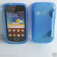 Pellicola + Custodia cover case WAVE BLU per SAMSUNG GALAXY MINI 2 S6500