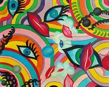 Australian original non aboriginal painting abstract 60x49cm acrylic canvas 1998