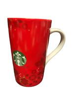 2013 Starbucks Mug Tall Red Christmas Holiday Ornaments 16 oz Coffee Cup