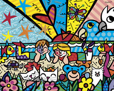 "✿ ROMERO BRITTO ✿ IN THE PARK  32"" X 40""   OFFSET LITHOGRAPH  *NEW*"