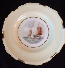 ANTIQUE ROYAL CROWN DERBY CABINET PLATE,SIGNED W E J DEAN,EXCELLENT CONDITION