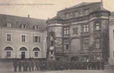 GAILLON portail de la caserne et cour intérieure timbrée 1905