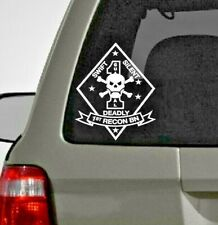 U.S. Marine Corp 1st Recon Battalion Vinyl Window Decal Sticker