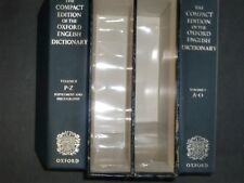 The Compact Edition of the Oxford English Dictionary/ magnifying glass