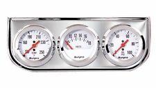 """Sunpro 2"""" Mechanical Triple Gauge White / Chrome Bezel New CP8208 Warranty"""
