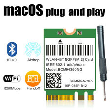 Broadcom BCM94360NG WiFi Card better than DW1560 BT4.0 Adapter 802.11ac 1200Mbps
