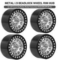 4*Hot Metal 1.9 Beadlock Wheel Rim Hub For 1/10 Traxxas Tamiya Axial RC Car U7S3