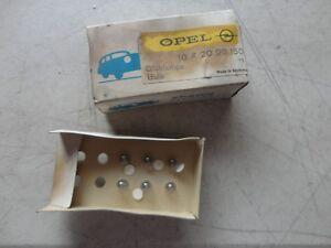 OPEL SPAHN vintage minature  automobile bulbs 20 98 150 six in vintage box