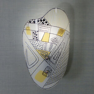 Vintage 1950s Mid-Century Turn Knob Sconce Light Fixture with Africa Pattern