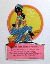 1930s Art Deco Style Black Man Valentine's Day Card