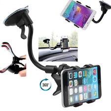 Car Windshield Mount 360° Rotated Sucktion Cup GPS Phone Holder Support Stand