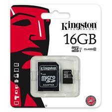 KINGSTON 16GB Classe 10 Micro Scheda di memoria SDHC CON ADATTATORE SD TF HC MicroSD