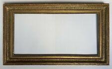 Cadre ancien XIX doré à canaux et feuille d'acanthe  feuillure 66 cm x 33 cm