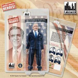 US Presidents 8 Inch Retro Action Figure George Bush jr. [navy blue Suit] NEW