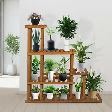 Wooden Flower Plant Display Stand 3 Tier Wood Shelf Storage Rack Indoor Outdoor