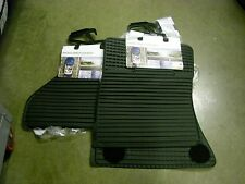 X5 BMW 2007-2013 OEM BLACK ALL WEATHER MATS FRONT AND REAR 4 PIECE SET