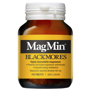 Blackmores MagMin 100 Tablets Magnesium 500mg for Muscle Brain Function Fatigue