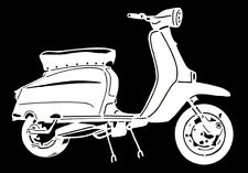 high detail airbrush stencil lambretta scooter five FREE UK POSTAGE