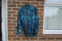 VERSACE Blue Tonal Silk Shirt | Size 38 (S) RRP $600+