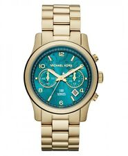 NEW MICHAEL KORS MK5815 HUNGER STOP 100 TURQUOISE WATCH - 2 YEAR WARRANTY