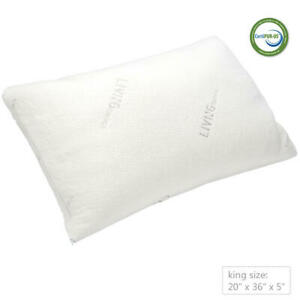 Shredded Memory Foam Pillow with washable removable cooling cover Home Decor