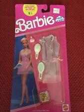 1990 Mattel Barbie Dreamwear 773 Pink Stamp Collection Dress W/ Accessories