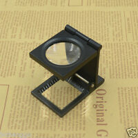 8X Linen Tester Loupe LED Desk Metal Thread Counter Magnifier Magnifying Glass