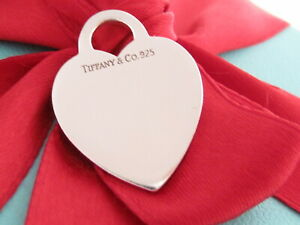 Tiffany & Co Silver Heart Pendant Charm For Necklace Or Bracelet