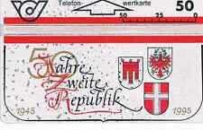 TELEFONKARTE:: ÖSTERREICH  50  JAHRE  ZWEITE  REPUBLIK  1945-1995  UNGEBRAUCHT