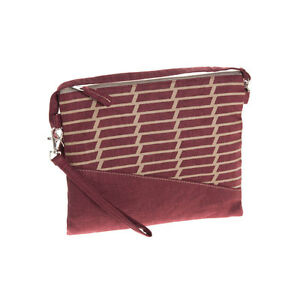 Red Wrist Clutch Bag Zip Closure Two types of strap - Fair Trade BNWT
