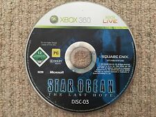 Star Ocean The Last Hope DISK 3 - Xbox 360 DISK 3 ONLY UK PAL
