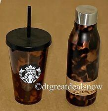 Starbucks Tortoise Tumbler Straw and Stainless Steel Water Bottle 20 fl oz 2018