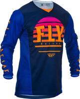 Fly Racing Mens Midnight/Blue/Orange Kinetic K220 Dirt Bike Jersey & Pants Kit