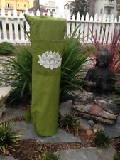 Yoga Mat Bag With Shoulder Straps And Front Pocket.LOTUS FLOWER Print Bag.Large