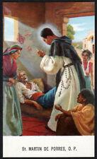 """santino-holy card""""S.MARTINO DE PORRES 4"""
