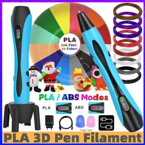 3D Druck Stift Stereoscopic Printing Pen 120ft PLA ABS für Kinder Erwachsen DIY