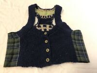 Free People Womens Lambswool Knit Vest size S