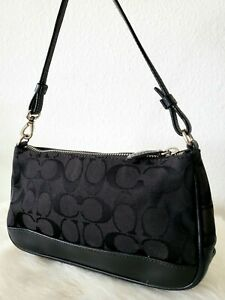 Coach Black Vintage shoulder Bag Purse Satchel Handbag