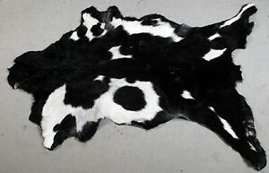 "New Goat hide Rug Hair on Area Rug Size 36""x22"" Animal Leather Goat Skin U-6905"