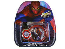Marvel The Amazing Spiderman Kids LCD Watch With Gift Set