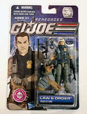 GI Joe Renegades Law & Order NIP MOC Complete G.I. Police K-9 Unit Figure Set