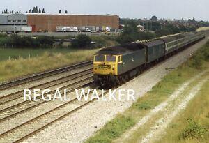 ORIGINAL 35MM SLIDE BRITISH RAIL BR DIESEL - CLASS 47 47440 WHITE WALTHAM 1981